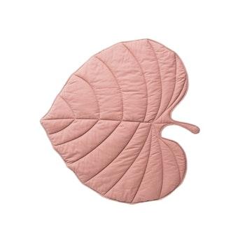 Bomullsmatta Löv - Rosa