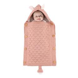 Stickad sovsäck - Blush