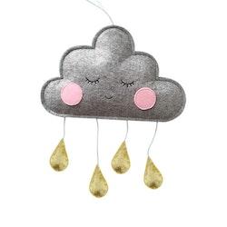 Moln med droppar - Guld