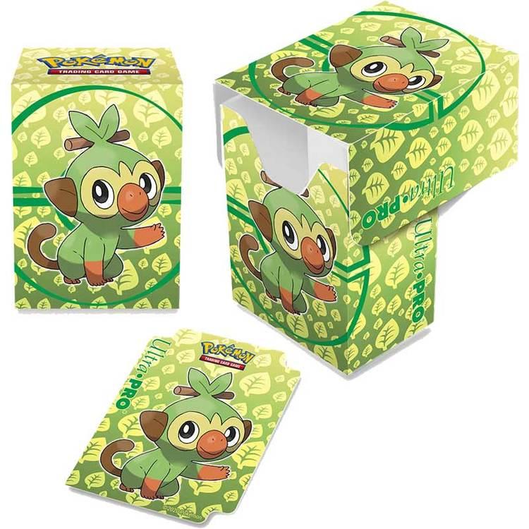 Pokémon Deck Box, Ultra Pro, Grookey (Med plats för ca 80 kort i sleeves)