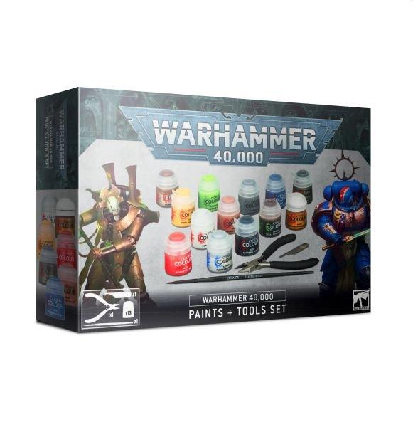 Warhammer 40K Citadel Paints Tools Set