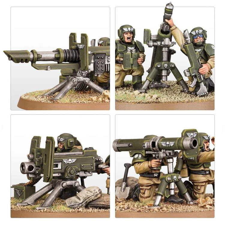Astra Militarum: Cadian Heavy Weapons Squad