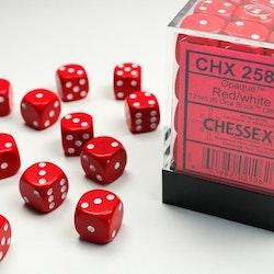 Chessex dice 12mm d6 Röda 36st