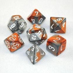 Chessex Gemini Copper Steel White