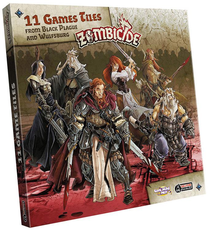zombicide black plague - 11 game tiles