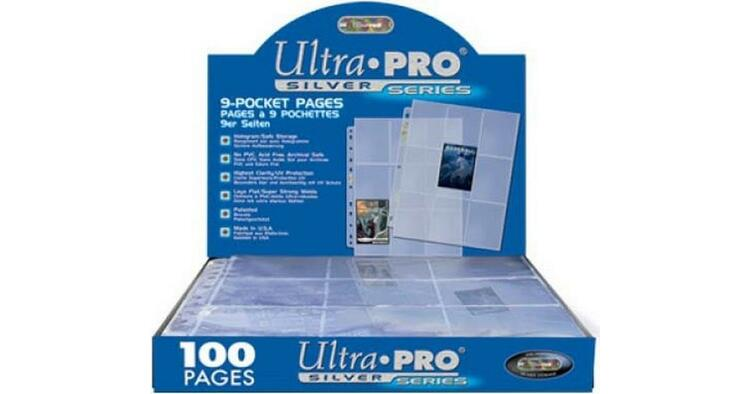 9-Pocket Pages Silver Blue 100 st