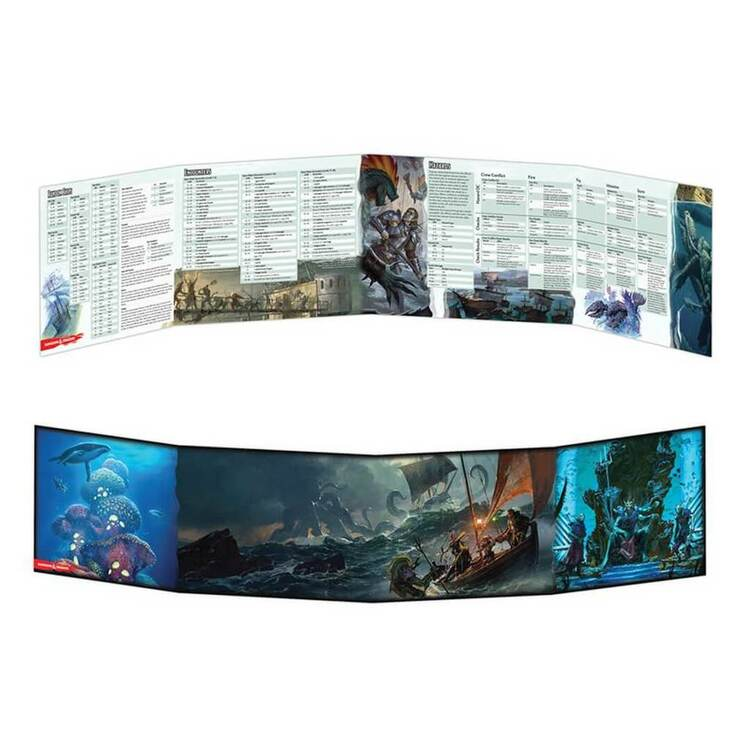 D&D 5th DM Screen Of Ships and the