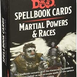 D&D Spellbook Cards - Martial Powers & Races