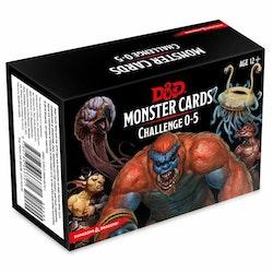 D&D 5th Challenge 0-5 Monster Cards