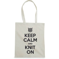 Keep Calm and Knit On bærenett