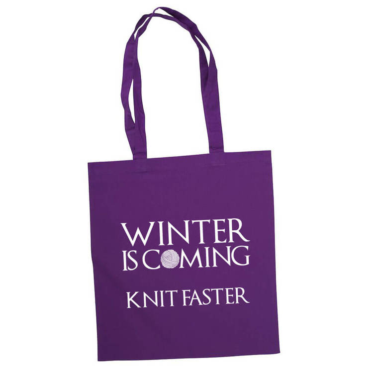 Winter is coming knit faster bærenett lilla