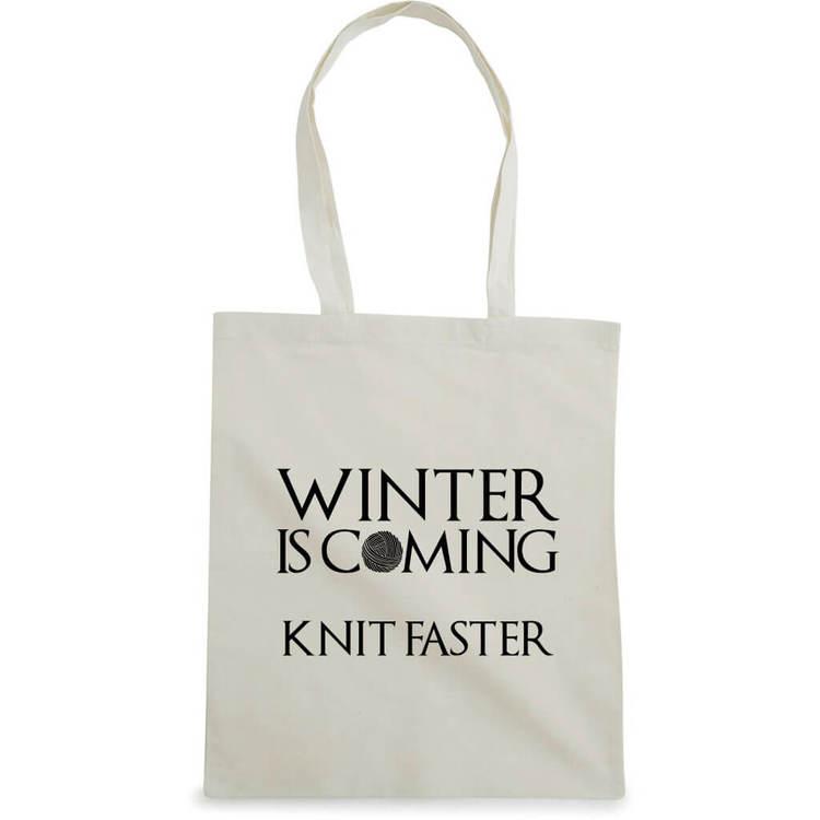 Winter is coming knit faster bærenett natur