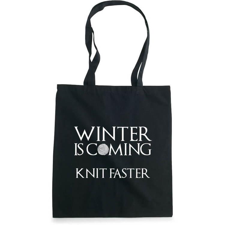 Winter is coming knit faster bærenett sort