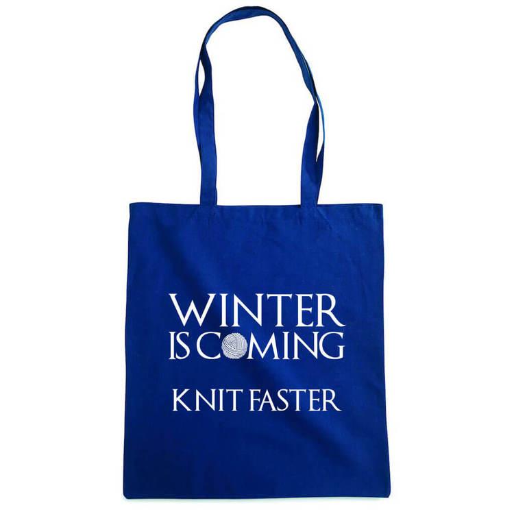 Winter is coming knit faster bærenett marine