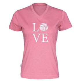 LOVE v-hals t-skjorte dame