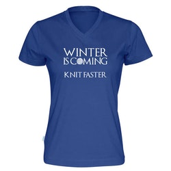 Winter is coming knit faster v-hals t-skjorte dame