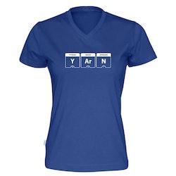 YARN periodisk system v-hals t-skjorte dame