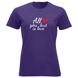 All you knit is love klassisk t-skjorte dame