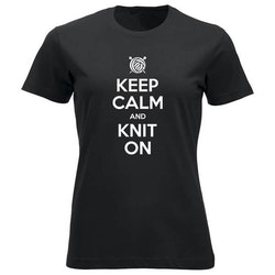 Keep Calm and Knit On klassisk t-skjorte dame