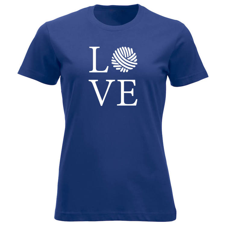 LOVE klassisk t-skjorte dame koboltblå