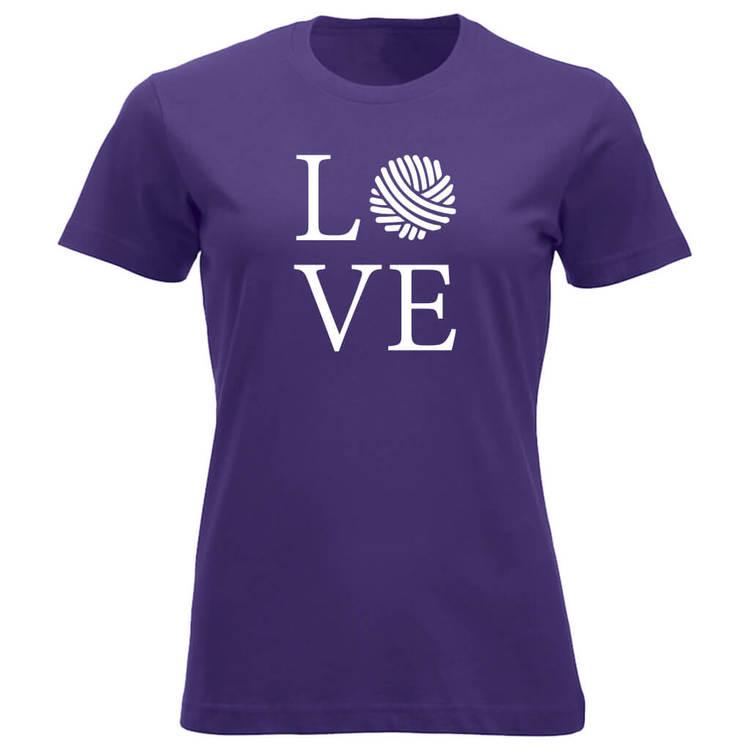 LOVE klassisk t-skjorte dame lilla