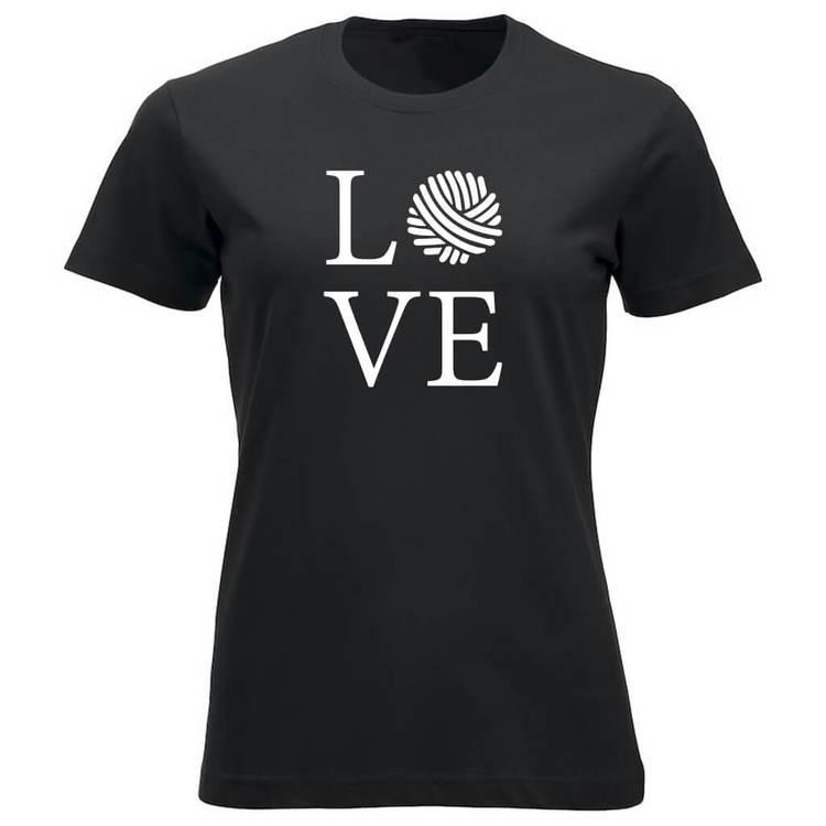LOVE klassisk t-skjorte dame sort