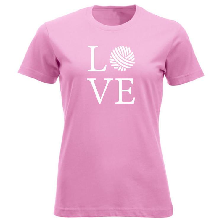 LOVE klassisk t-skjorte dame rosa