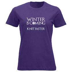 Winter is coming knit faster klassisk t-skjorte dame