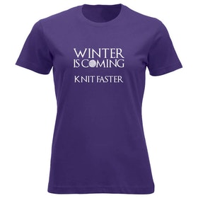Winter is coming knit faster klassisk t-skjorte dame