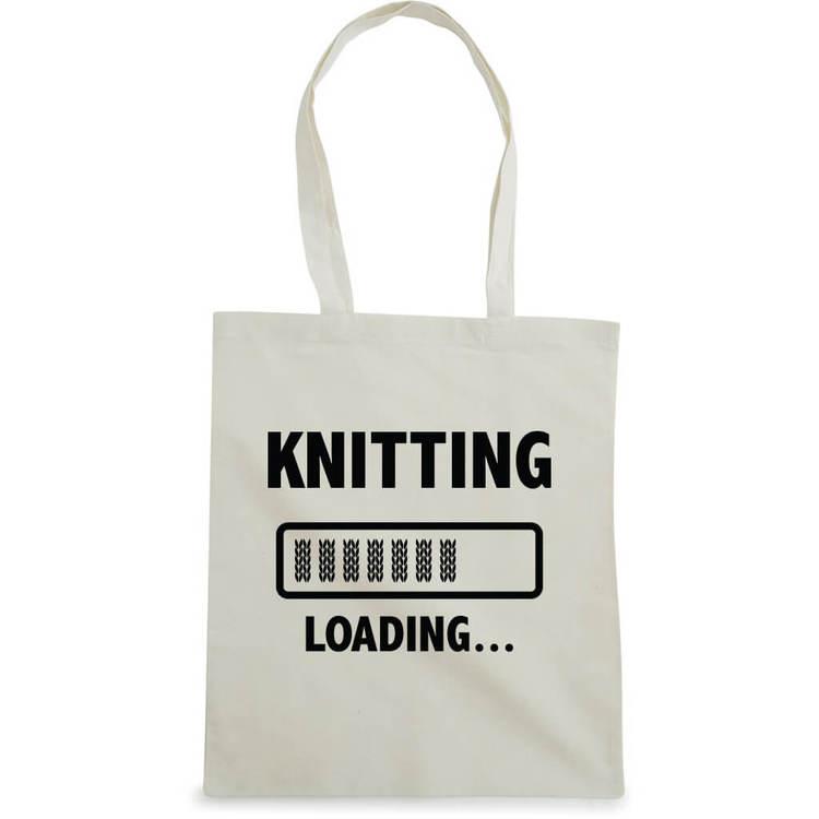 Knitting loading bærenett natur