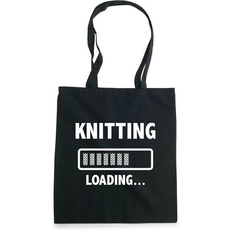 Knitting loading bærenett sort