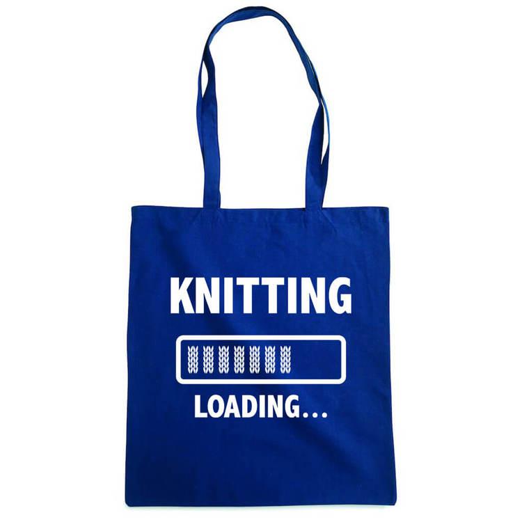 Knitting loading bærenett marine