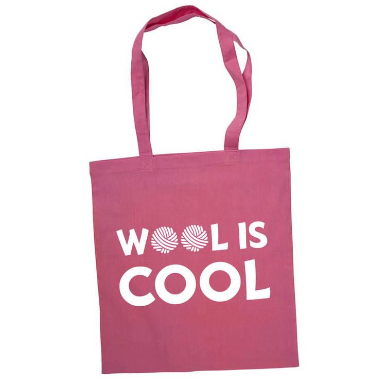Wool is cool bærenett rosa