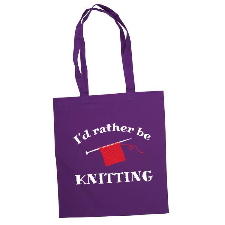 I'd rather be knitting bærenett lilla