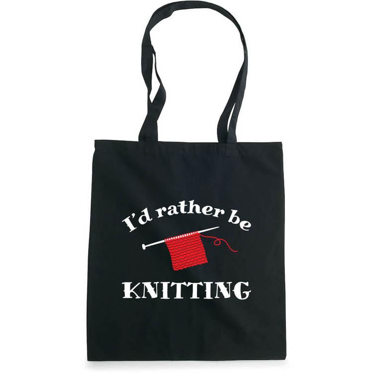 I'd rather be knitting bærenett sort