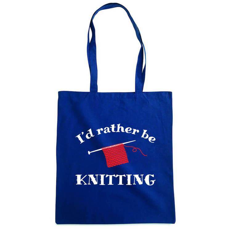 I'd rather be knitting bærenett marine