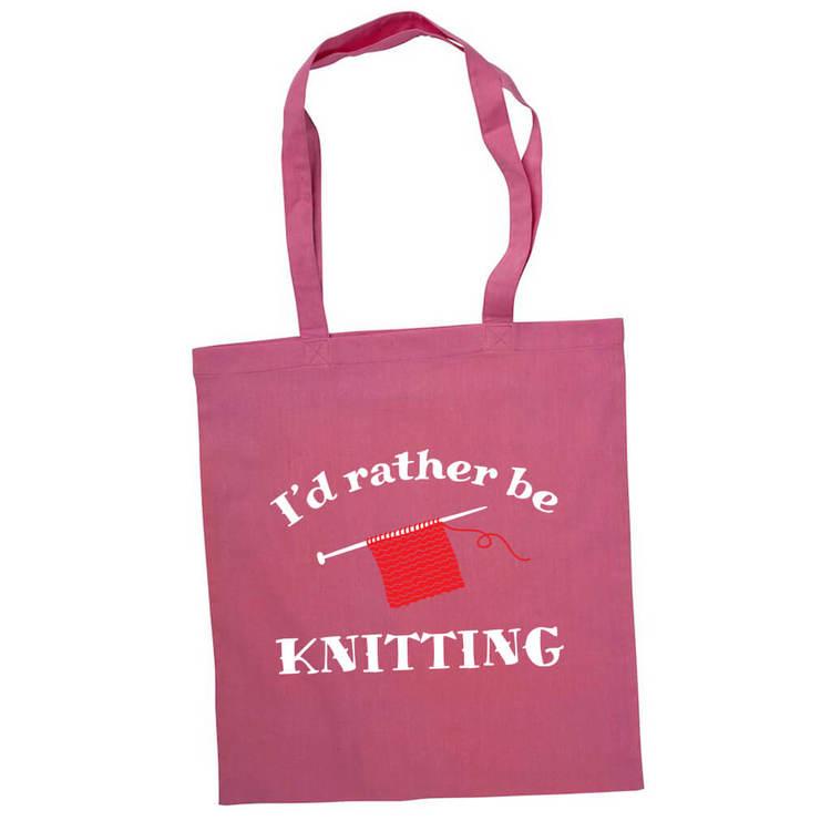 I'd rather be knitting bærenett rosa