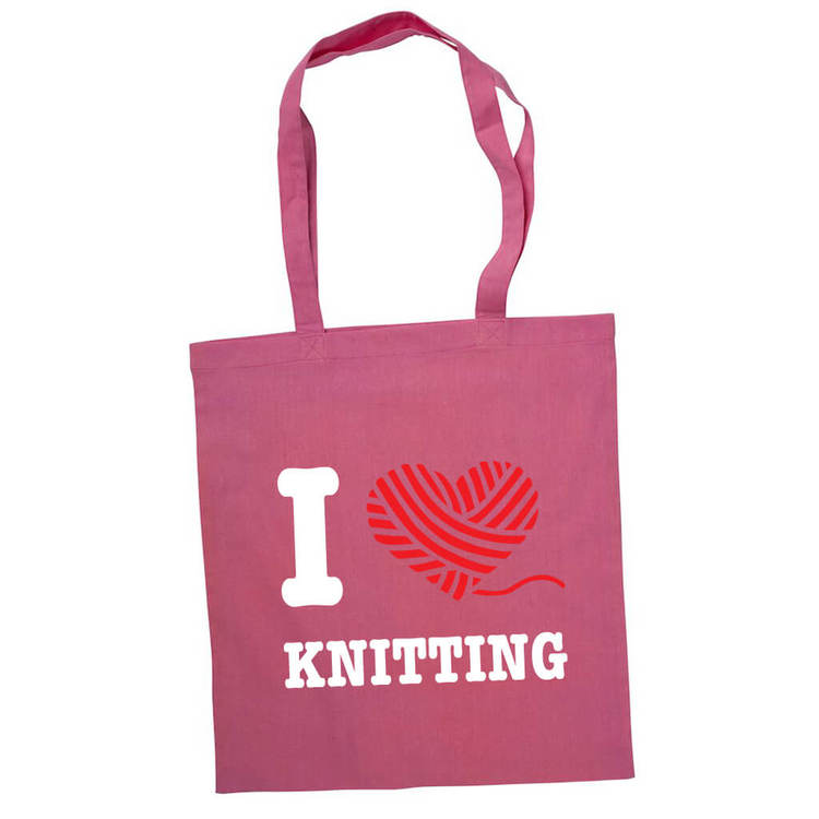 I love knitting bærenett rosa