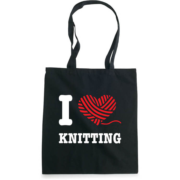 I love knitting bærenett sort