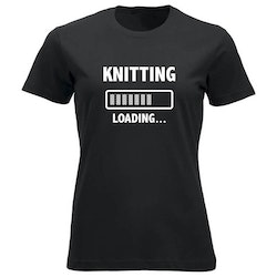 Knitting loading klassisk t-skjorte dame