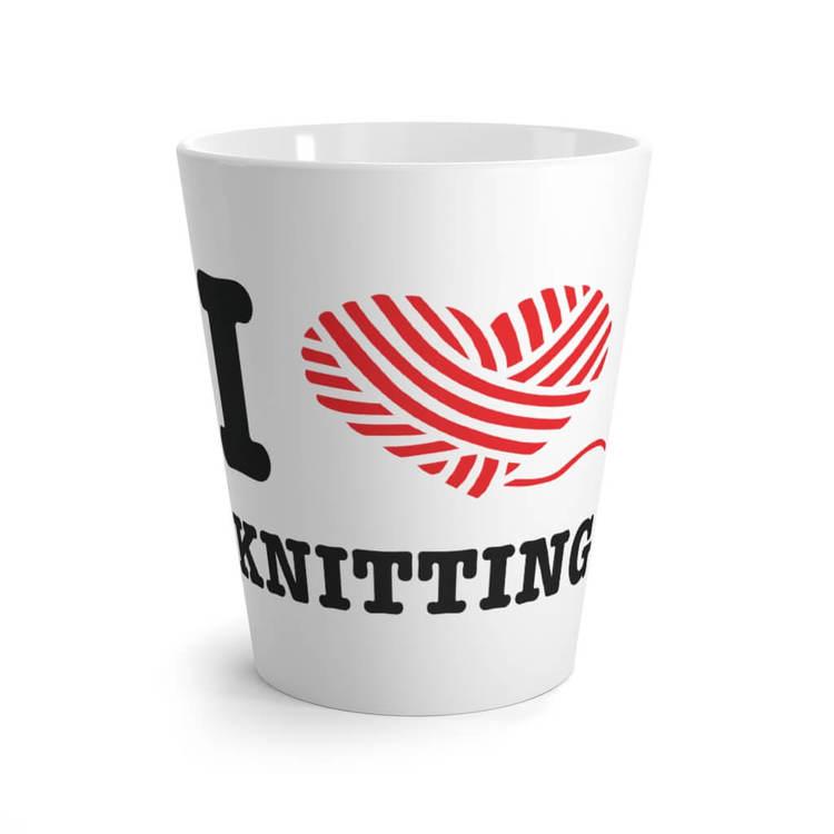I love knitting lattekrus
