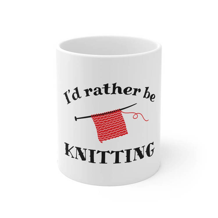 I'd rather be knitting krus front
