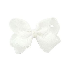 Hårklämma - Fancy Lace Bow Snow White