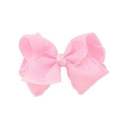Hårklämma - Fancy Lace Bow Baby Pink
