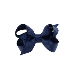 Hårklämma - Mini Bow Midnight Blue