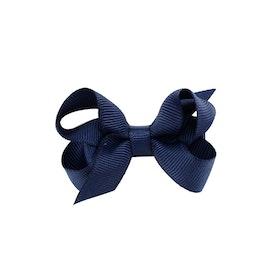 Hårklämma - Mini Bow Midnight Blue