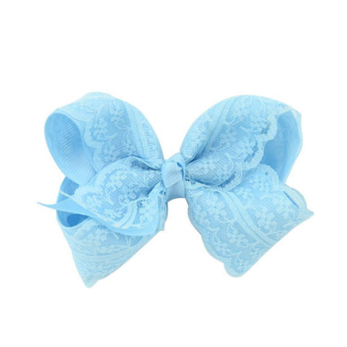 Hårklämma - Fancy Lace Bow Baby Blue