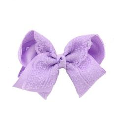 Hårklämma - Fancy Lace Bow Lilac