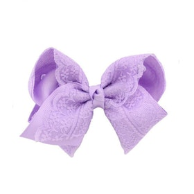 Hårklämma - Fancy Lace Bow Lilac