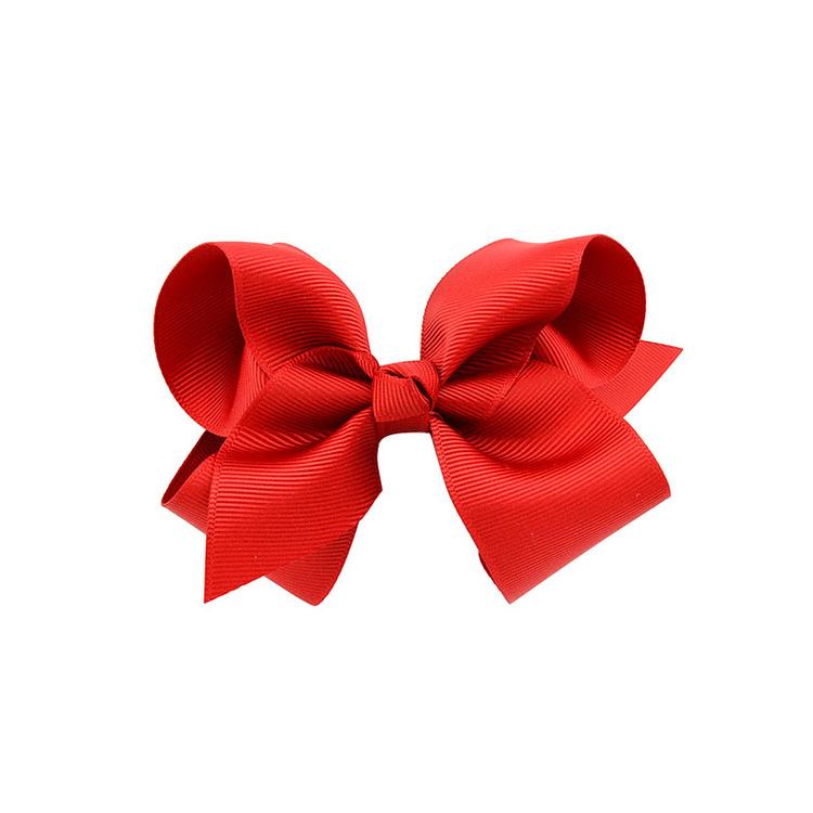 Hårklämma - Fancy Bow Red Rose
